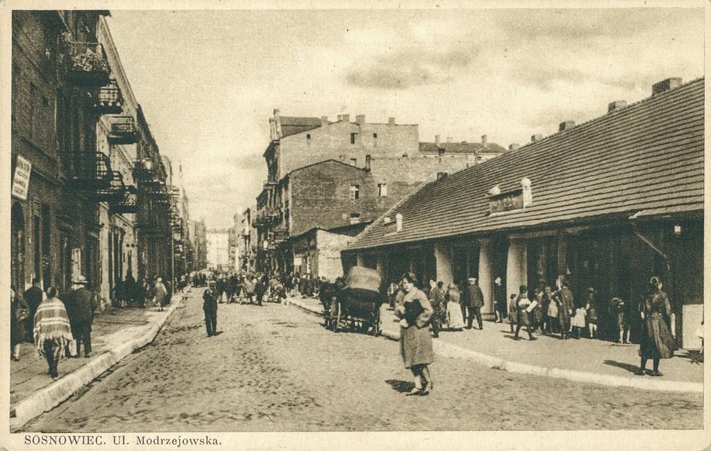 Ulica Modrzejowska w Sosnowcu - fot. Muzeum Sosnowiec