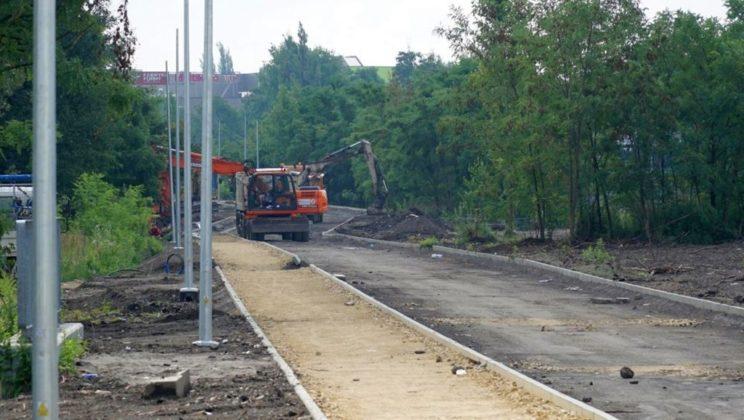 Budowa velostrady w Jaworznie – fot. UM Jaworzno