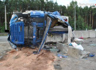 Śmiertelny wypadek na S1 - fot. Policja Będzin