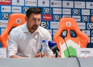Dariusz Dudek po meczu z KGHM Zagłębie Lubin – fot. Wojciech Rejdych