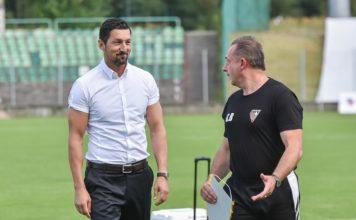 Trener Zagłębia Sosnowiec Dariusz Dudek – fot. Wojciech Rejdych
