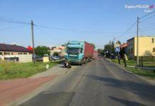 Śmiertelny wypadek motocyklisty w Psarach – fot. Policja Będzin