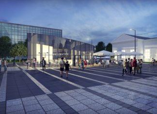 Plac przed dworcem PKP w Sosnowcu – fot. Amaya Architekci