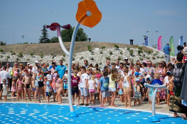 Otwarcie wodnego placu zabaw w Jaworznie – fot. UM Jaworzno