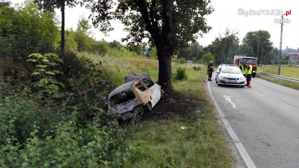 Wypadek – fot. KPP Będzin