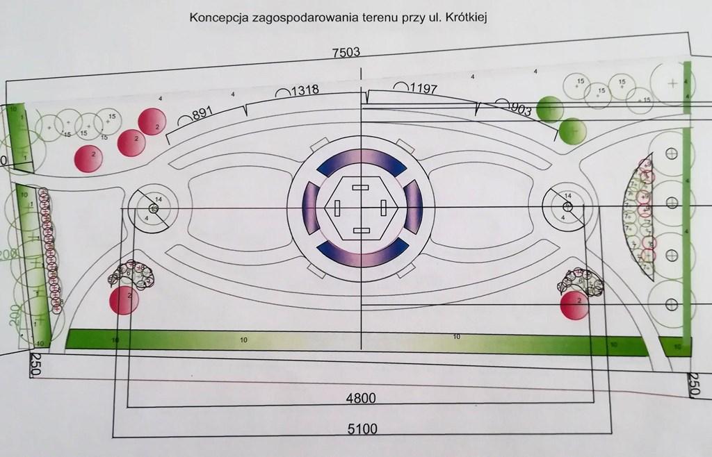 Koncepcja zagospodarowania terenu przy ul. Krótkiej w Czeladzi - fot. UM Czeladź