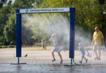 Kurtyna wodna – fot. Dąbrowskie Wodociągi
