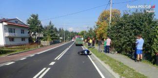 Wypadek w Siewierzu – fot. KPP Będzin