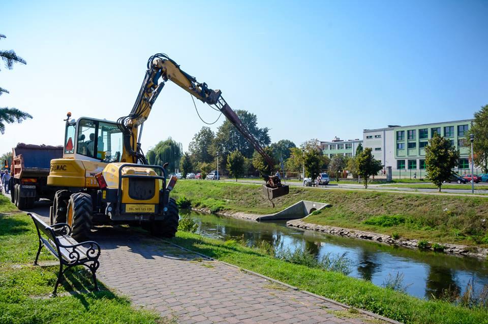 Modernizacja bulwarów Czarnej Przemszy w Będzinie - fot. UM Będzin