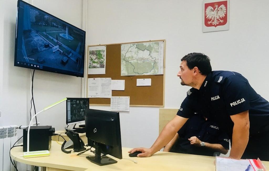 Monitoring miejski w Porębie - fot. UM Poręba
