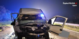 Wypadek na DK1 - fot. KPP w Będzinie