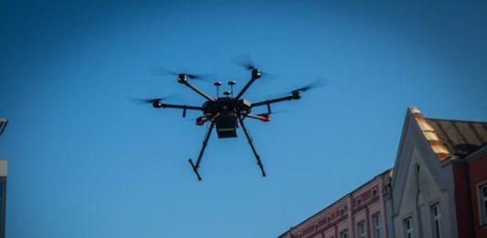 Dronem w smog - fot. UM Sosnowiec