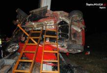 Śmiertelny wypadek na A1 – fot. Policja