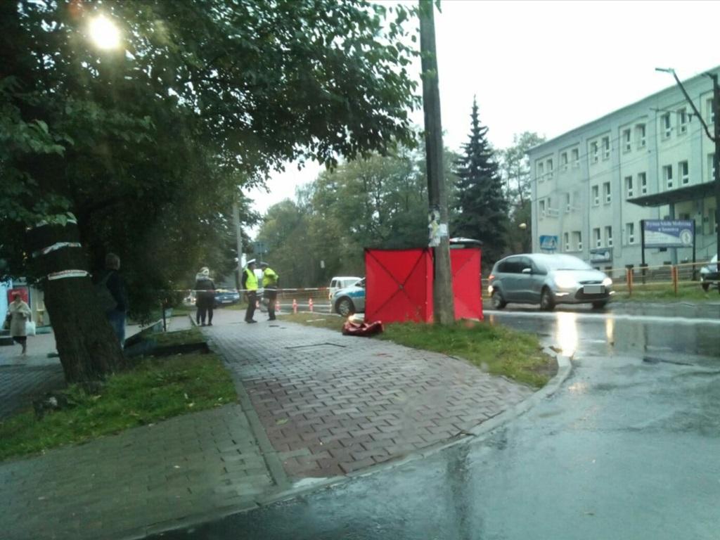 Śmiertelne potrącenie w Sosnowcu - fot. ND