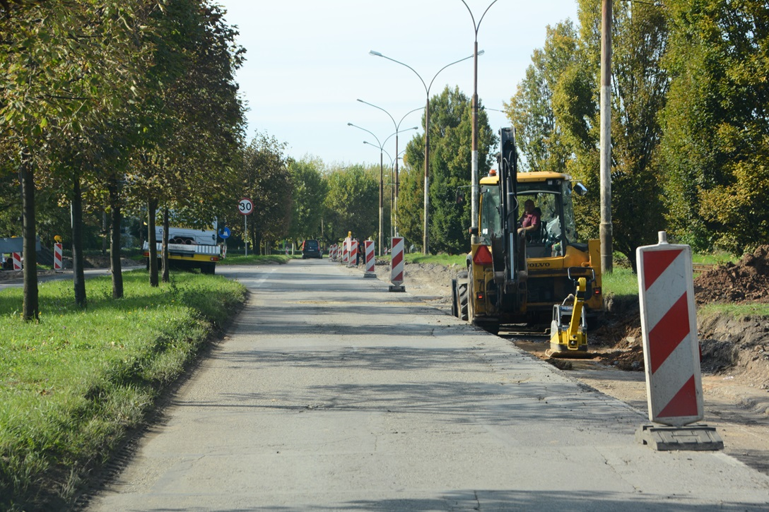 Remont ulicy Kasprzaka – fot. UM Dąbrowa Górnicza