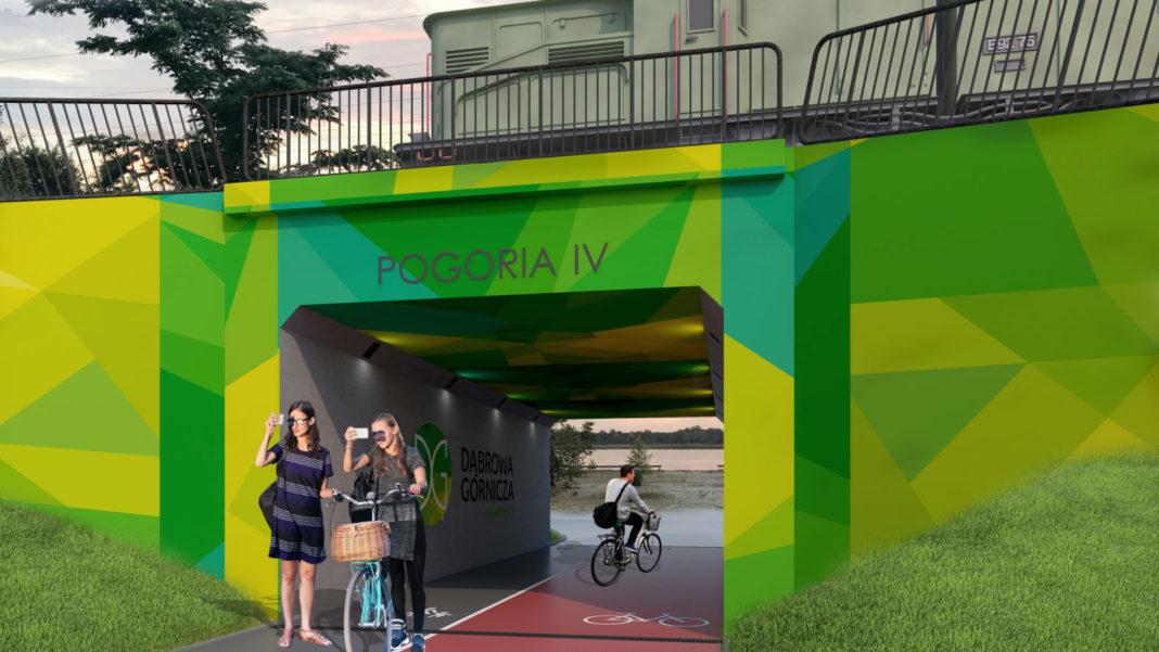 Pogorię III i IV połączy tunel pieszo-rowerowy - fot. UM Dąbrowa Górnicza