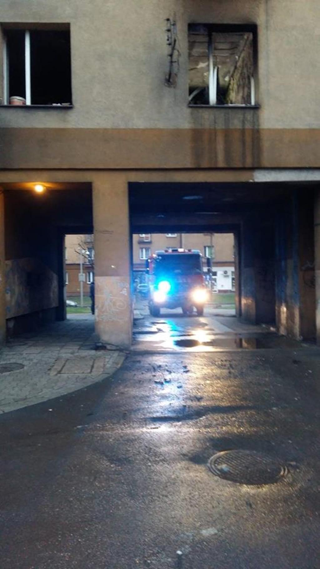 Tragiczny pożar w Czeladzi - fot. Ochotnicza Straż Pożarna Czeladź