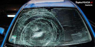 Potrącił kobietę na pasach - fot. KPP w Zawierciu