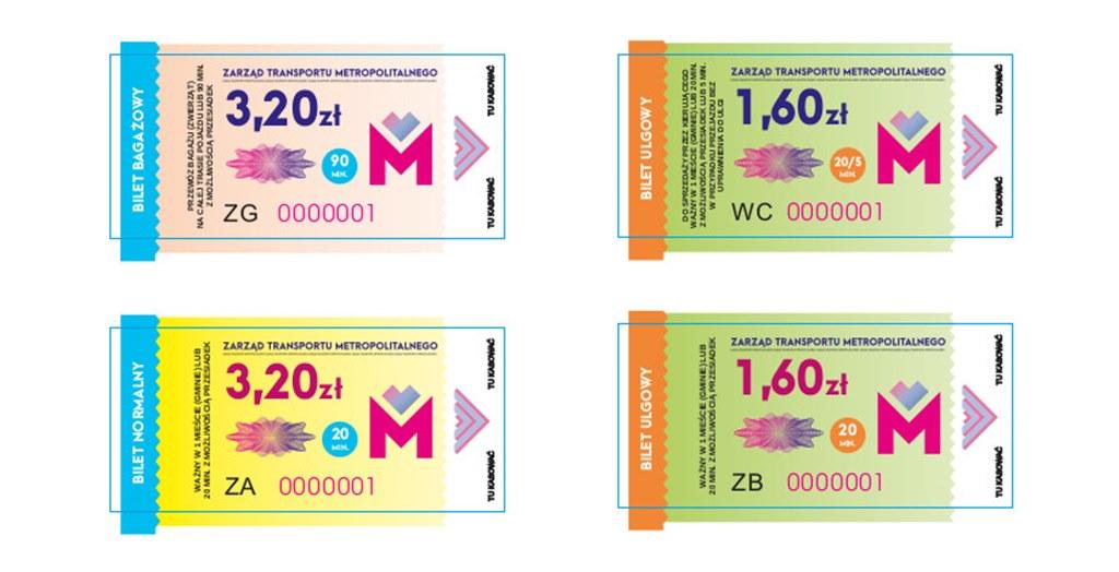 Nowy wzór biletów – fot. Metropolia GZM