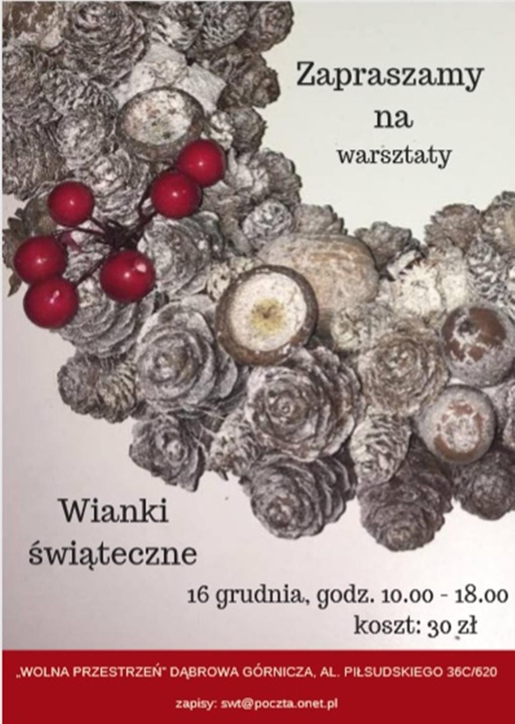 Warsztaty tworzenia wianków świątecznych - fot. mat. pras.