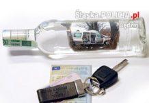 Pijany kierowca - fot. KPP w Będzinie
