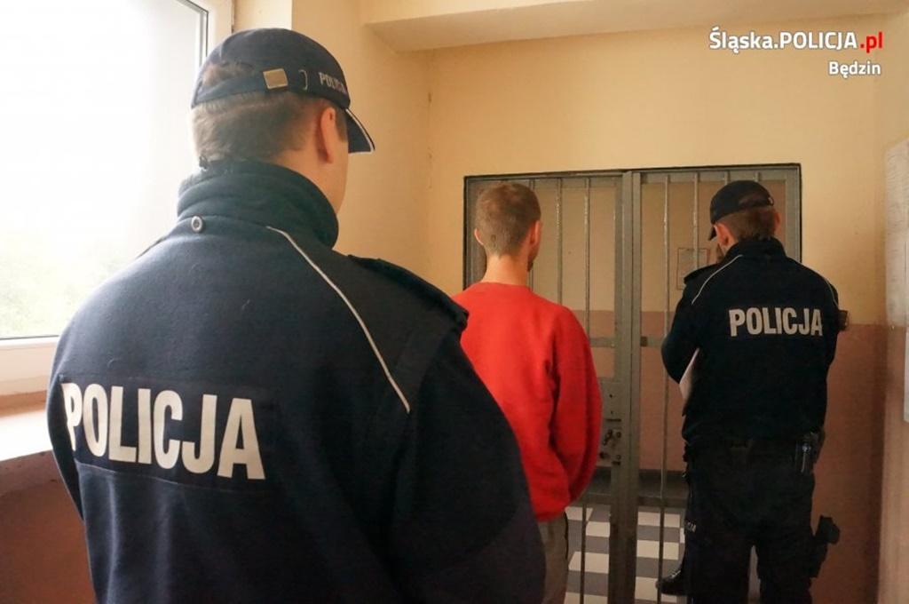 Groził pracownikom MOPS - fot. KPP w Będzinie