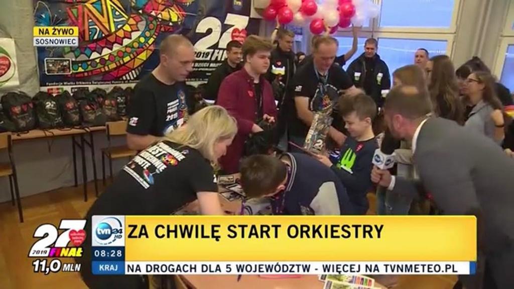 WOŚP 2019 w Sosnowcu - fot. UM Sosnowiec