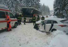 Wypadek polskiego autokaru na Słowacji - fot. Facebook/ @Prezídium Hasičského a záchranného zboru