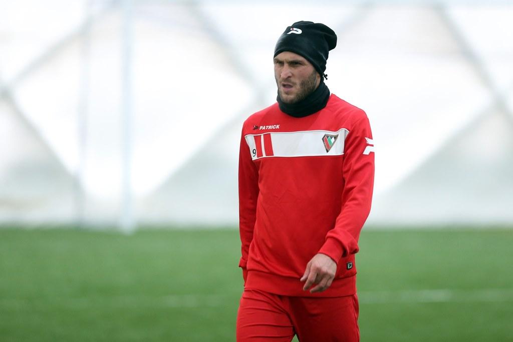 Giorgi Gabedava na pierwszym treningu Zagłębia Sosnowiec - fot. Michał Chwieduk