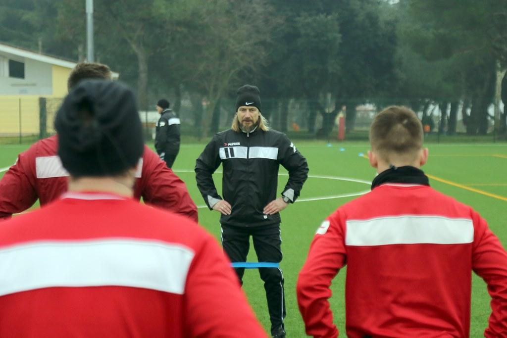 Thomas Klimmeck na treningu Zagłębia Sosnowiec – fot. zaglebie.eu
