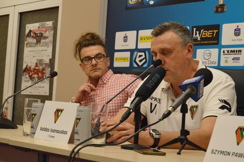 Robert Tomczyk i Valdas Ivanauskas - fot. MZ