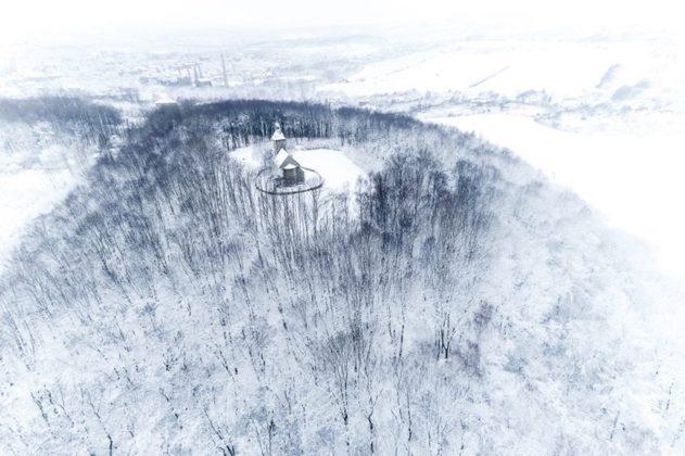 Będzin w zimowej odsłonie - fot. UM Będzin