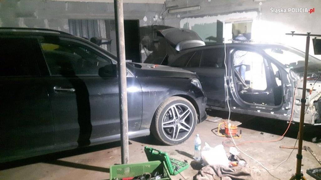 Kradzione samochody Czeladź - fot. KPP w Będzinie
