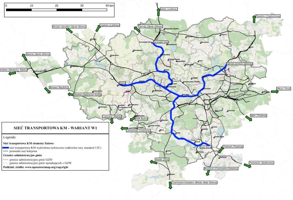 Kolej metropolitalna wariant 1 - fot. Górnośląsko-Zagłębiowska Metropolia