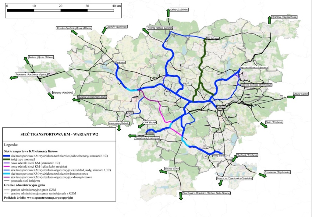 Kolej metropolitalna wariant 2 - fot. Górnośląsko-Zagłębiowska Metropolia