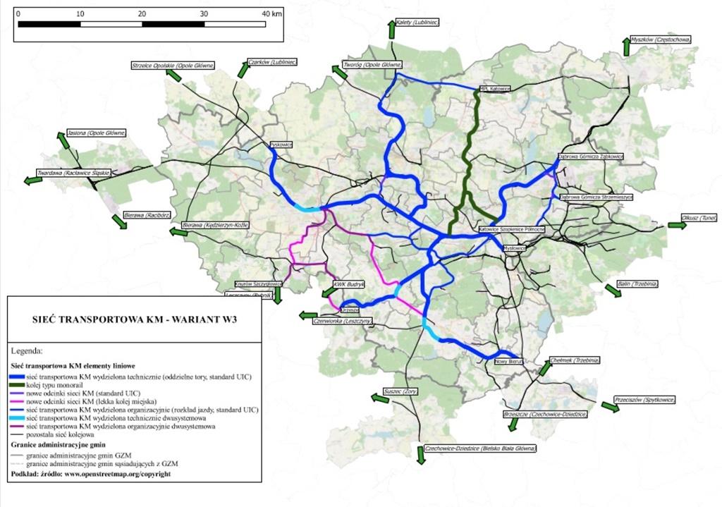Kolej metropolitalna wariant 3 - fot. Górnośląsko-Zagłębiowska Metropolia