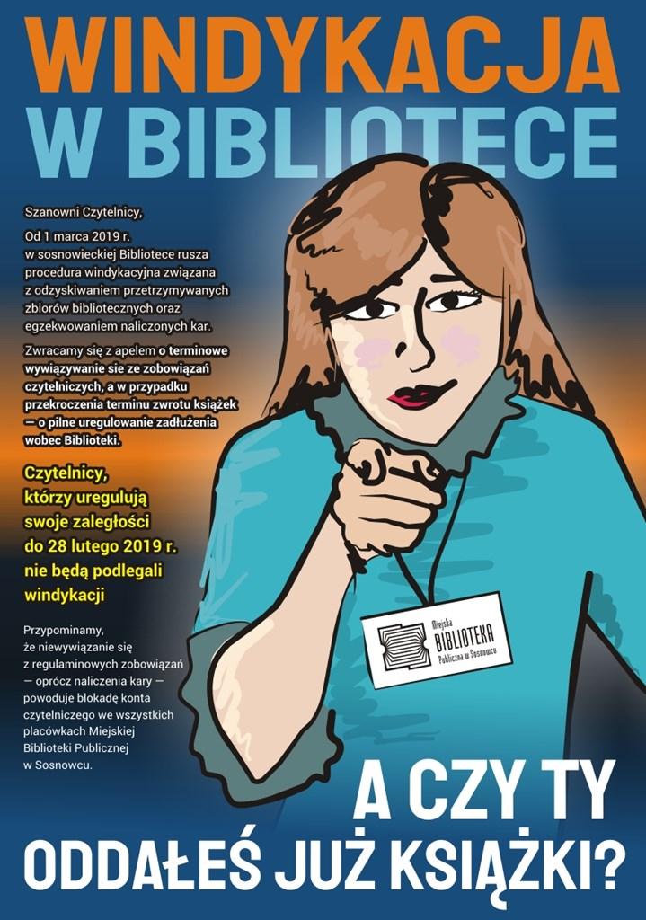 Windykacja w Miejskiej Biblioteka Publicznej w Sosnowcu - fot. mat. pras.