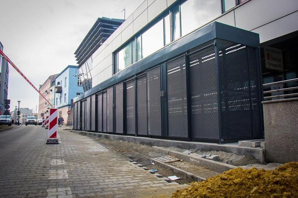 Nowa wiata śmietnikowa - fot. UM Sosnowiec
