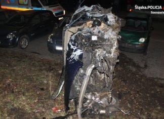 Tragiczny wypadek w Sosnowcu - fot. KMP w Sosnowcu