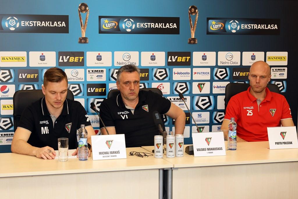 Valdas Ivanauskas przed meczem z Koroną Kielce - fot. zaglebie.eu
