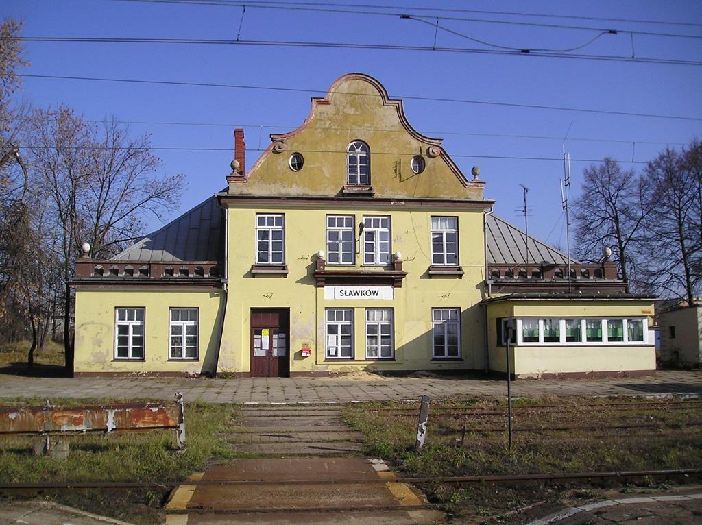 Dworzec PKP w Sławkowie - fot. Wikipedia