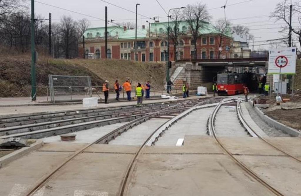 Modernizacja torowiska Pogoń – fot. Tramwaje Śląskie