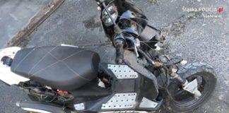 Uciekał kradzionym motorowerem - fot. KMP w Sosnowcu