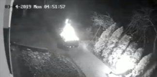 Podpalił samochód i siebie - fot. KPP w Będzinie