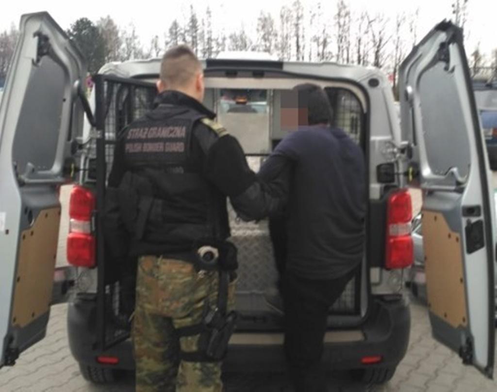 Nielegalny imigrant zatrzymany w Sławkowie - fot. Straż Graniczna w Katowicach-Pyrzowicach