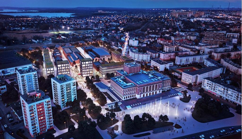 Drugie miejsce w konkursie na nowe centrum Dąbrowy Górniczej zajęła pracownia M.O.C. Architekci - fot. mat. pras.