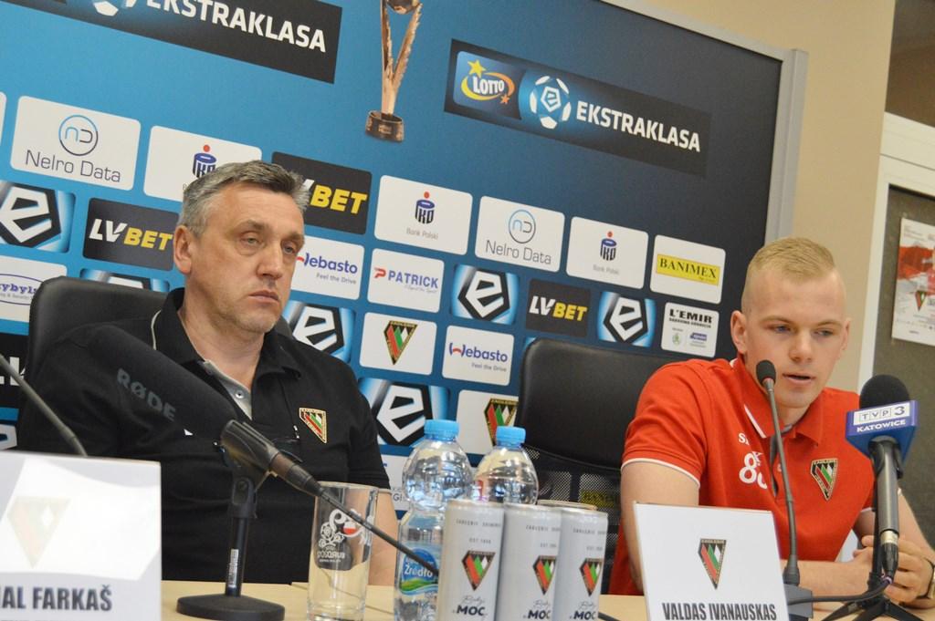 Valdas Ivanauskas na konferencji prasowej przed meczem z Wisłą Kraków - fot. MZ