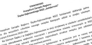 Śląsko-Dąbrowska Solidarność odrzuca porozumienie z rządem – fot. mat. pras.