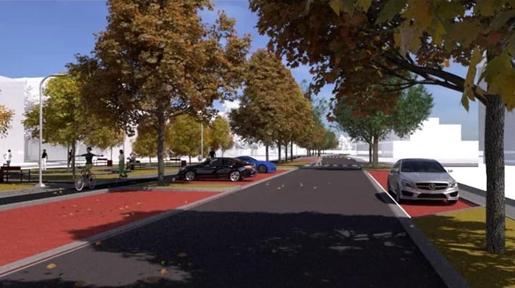 Tak ma wyglądać po przebudowie ulica Spacerowa w Czeladzi - fot. AiM Architekci