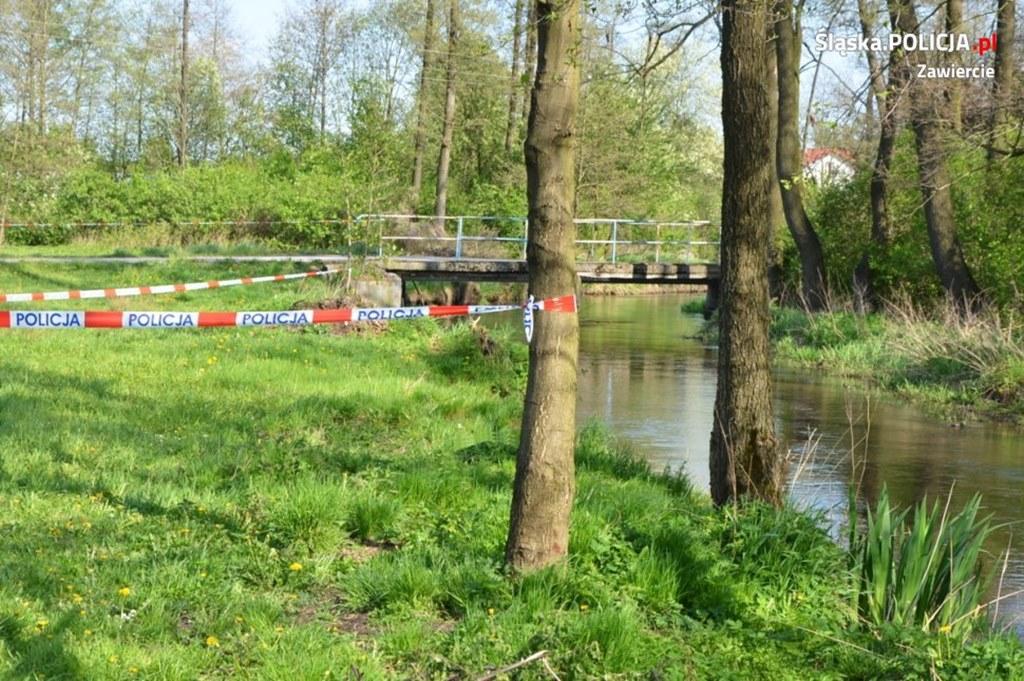 W rzece znaleziono zwłoki noworodka - fot. Policja Zawiercie